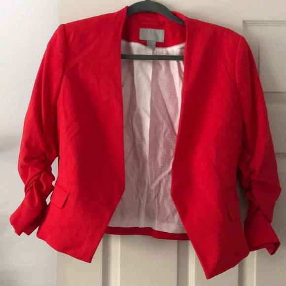 3aa0dff7fcb7 H M Jackets   Blazers - H M red cropped blazer